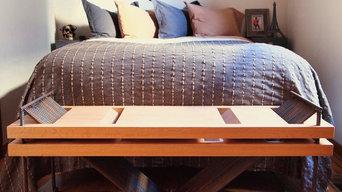 Repurposed Rebar and Red Oak Bench