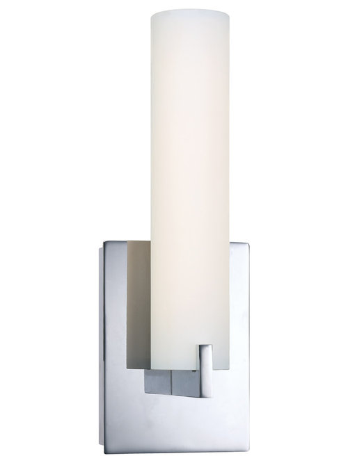 Tube LED Vanity Wall Sconce by George Kovacs - Wall Sconces  sc 1 st  Houzz & Wall Sconces Bath Bars u0026 Vanity Lighting