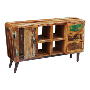 vidaXL Solid Reclaimed Wood Sideboard, 150x40x86 cm