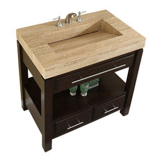 Silkroad Exclusive 36 Modern Single Sink Bathroom Vanity Vanities And Consoles