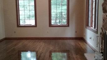 Refinishing of Red Oak Hardwood Floors in Warren NJ