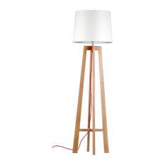 Scandinavian Floor Lamp: Lamps buyer - Four-Legged Wooden Floor Lamp With White Fabric Shade - Floor  Lamps,Lighting