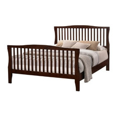 Furniture of America E-Commerce by Enitial Lab - Furniture of America Riggins Platform Slat Bed, Brown Cherry, Queen - Panel Beds
