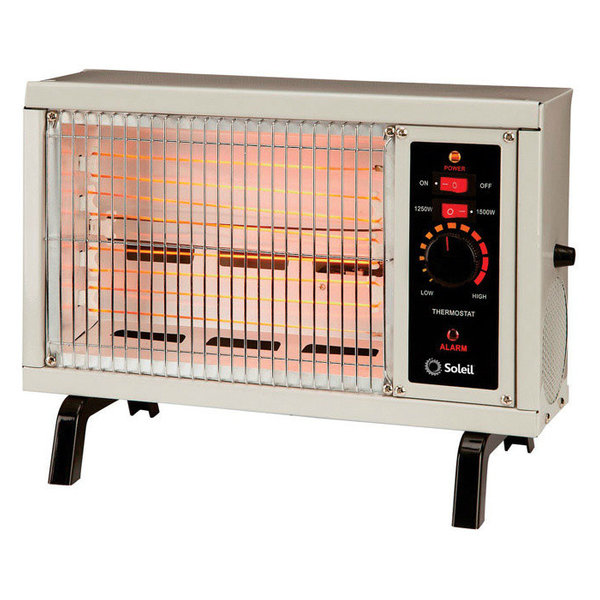 Soleil electric infrared radiant heater 1500 watts wh 96h for Electric radiant heat thermostat