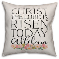 Christ the Lord is Risen 20x20 Throw Pillow Cover