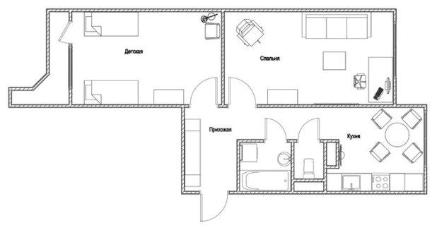 Скандинавский План этажа by Студия Дизайн Квадрат