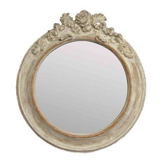 EMDE Round Mirror, Patina, Large