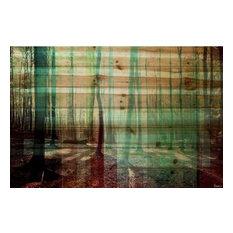 "Parvez Taj Art Print On Natural Pine Wood, 24""x36"""