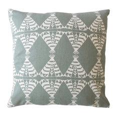 "Eamhair Graphic Down Filled Throw Pillow, Grey, 22""x22"""