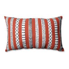 Pillow Perfect Tribal Bands Rectangular Throw Pillow, Gray Cream Black Stripes,