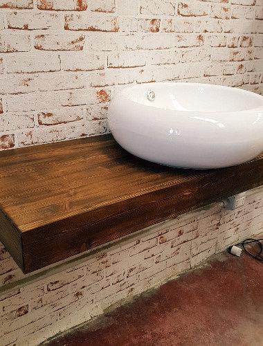 Mensole portalavabo in legno - Mensola bagno appoggio lavabo ...