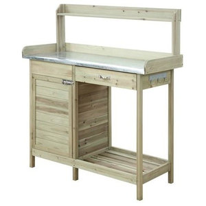 Phenomenal Convenience Concepts Deluxe Potting Bench With Cabinet Ibusinesslaw Wood Chair Design Ideas Ibusinesslaworg