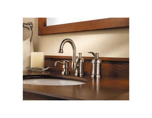 8\'\' Widespread faucet holes, but 1-hole faucet w/soap dispensers?