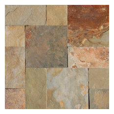 Earth Slate Versailles Pattern Tiles, 8 Sq. ft.