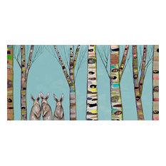 """Bunnies in The Woods"" Canvas Wall Art by Eli Halpin, 36""x18"""