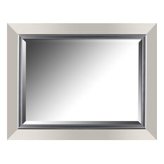 "27.25"" x 35.25"" Silver Gradient Framed Wall Mirror"
