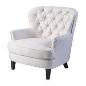 GDF Studio Zyral Ivory Fabric Club Chair