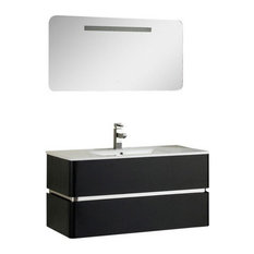 "Fine Fixtures Sundance Collection, Black High Gloss, 40"", Vanity"