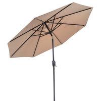 Patio Premier 9' Round 8-Rib Aluminum Market Umbrella, Taupe