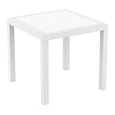 Compamia Orlando Outdoor Square Dining Table, White