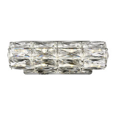 Malta Integrated LED chip-light Chrome Wall Sconce Clear
