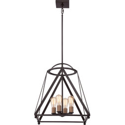 Lovely Industrial Pendant Lighting by Quoizel