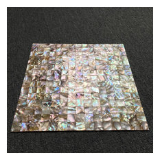 Mother of Pearl Shell Mosaic Tile, Set of 10
