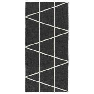 Viggen Woven Vinyl Floor Cloth, Black, 70x200 cm