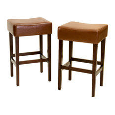 GDFStudio - Duff Counter Stools Set of 2 Hazelnut - Bar Stools and Counter  sc 1 st  Houzz & Backless Counter Height Stools | Houzz islam-shia.org