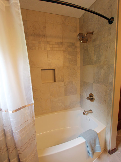 Master Bath Cambria Linwood Countertops Amp Champagne Tiled
