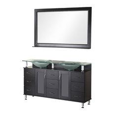 "Huntington 61"" Double Sink Vanity Set, Espresso"