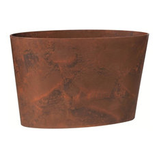 "Novelty Manufacturing Novelty 25.5"" Napa Oval Planter, Teak"