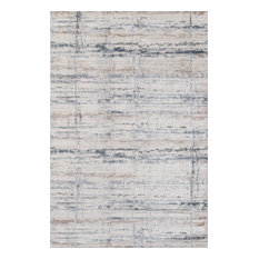 "Momeni Dalston Polyester Blend Machine Made Gray Area Rug, 7'10""x10'10"""