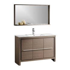 "47.5"" Single Sink Bathroom Vanity, Gray Oak, FFT1030CH"