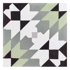 Casablanca Cement Moroccan Tile, Set of 13, 8x8