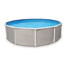 "Blue Wave Belize Round 55"" Steel Pool, 15 Ft"