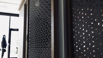 Custom Laser Cut Sliding Door Install