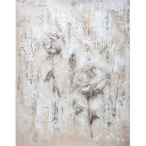 """Flowers Vanilla 4""   - Large Contemporary Artwork"