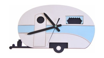 The Caravan Clock Blue