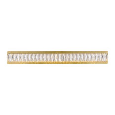 Marilyn Integrated LED chip-light gold Wall Sconce Clear