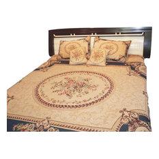 Adela Chenille Bedspread Set, Navy Blue, Twin