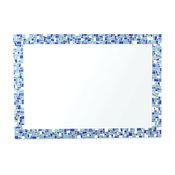 Sea Glass Inspired Mosaic Decorative Bathroom Wall Mirror, 24x34
