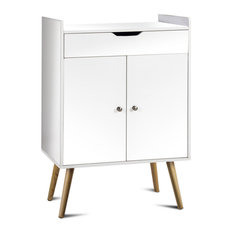 Costway Two Door Buffet Sideboard Storage Cabinet Console Table Sever Display