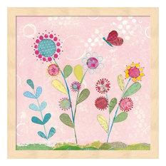 "Pattys Garden IV by Courtney Prahl Framed Art, 13.25""x13.25"""