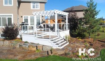 Deck, stonework, and sideyard