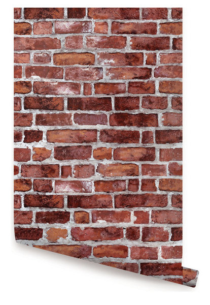 Brick Wallpaper, Peel and Stick - Farmhouse - Wallpaper