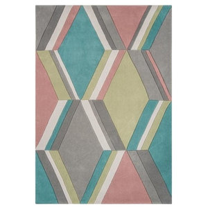 Harlequin HA16 901 Diamond Stripe Rug, Pastel, 120x170 cm
