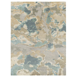 Surya Slice Of Nature SLI6407 Grey/Green Modern Area Rug, Rectangular 5' x 8'