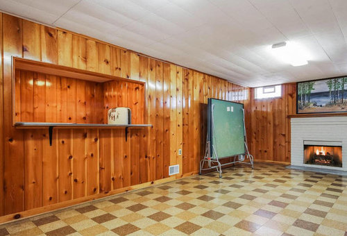 Knotty Pine Basement To Paint Or Not To Paint