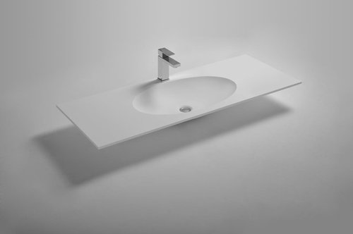 Husband And I Debating On Type Of Sink For Our Transitional Contemporary Master Bathroom Fell In Love With Solid Surface Integrated Vanity Tops While